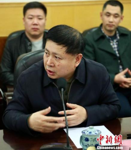 中国电影家协会秘书长饶曙光发言。 夏煜 摄