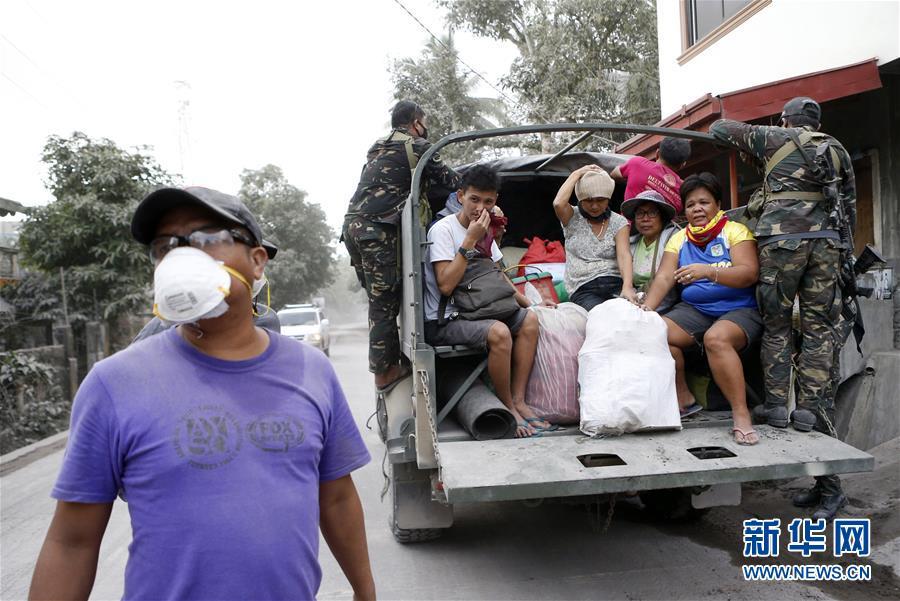 (国际)(3)菲律宾马荣火山喷发危险上升