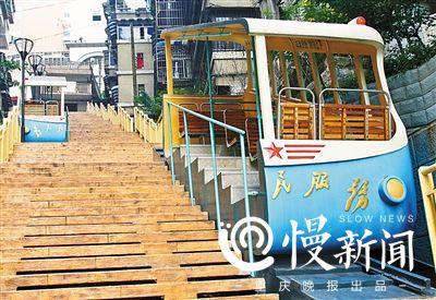 重庆 朝天门缆车今年原址复建图片