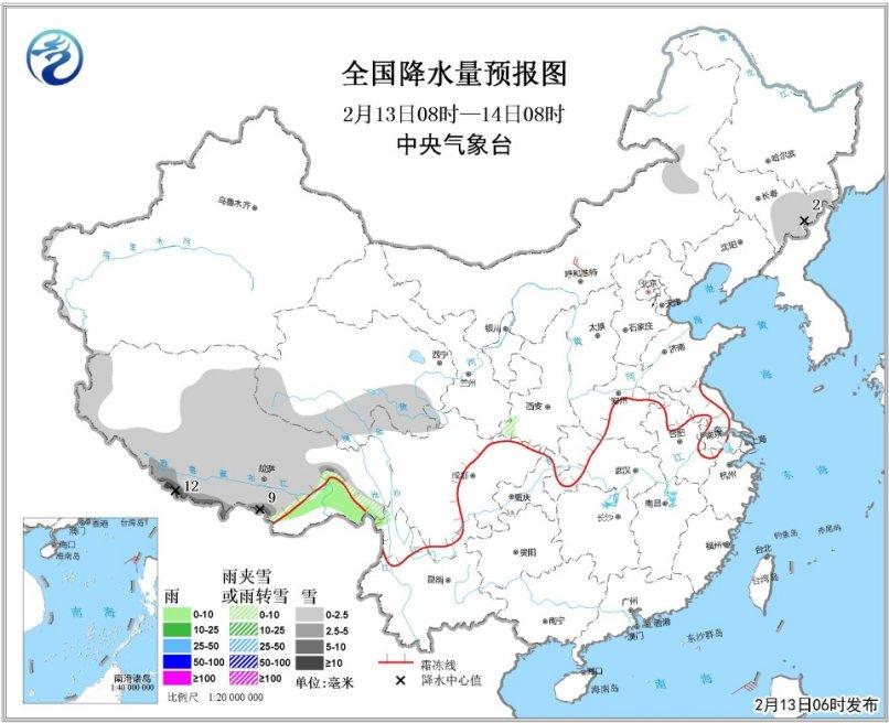 中东部气温明显回升青藏高原有雨