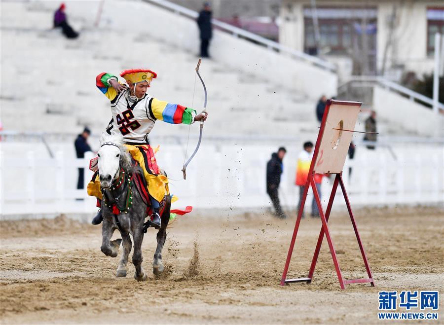 (体育)(2)民族体育——传统马术表演庆藏历新年