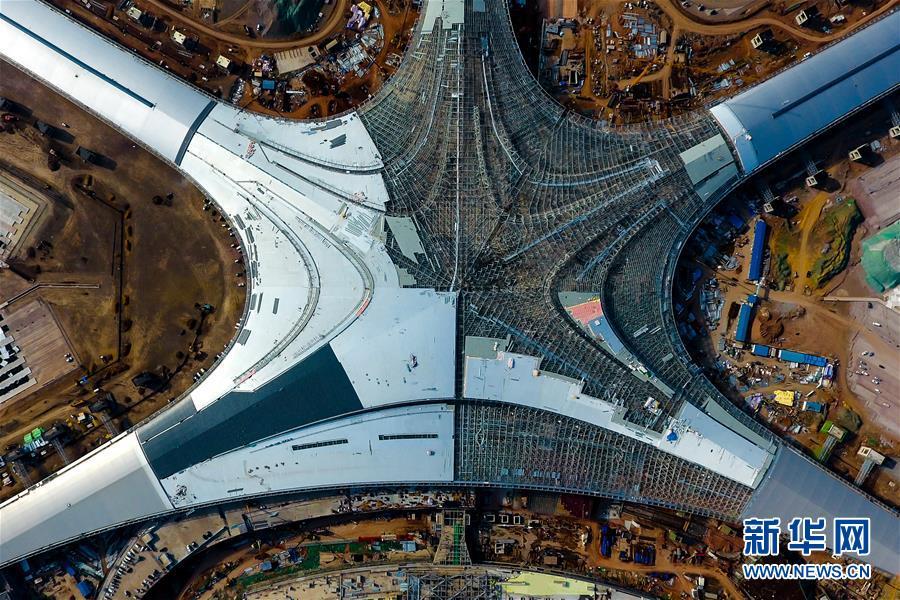 青岛胶东国际机场建设忙  突出了青岛的海洋文化