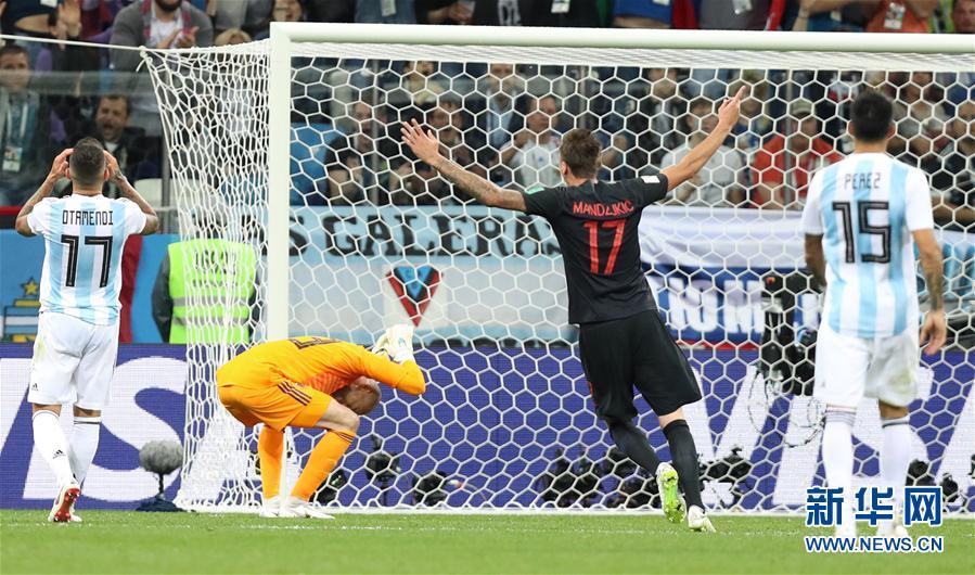 (世界杯)(34)足球——D組:克羅地亞隊擊敗阿根廷隊