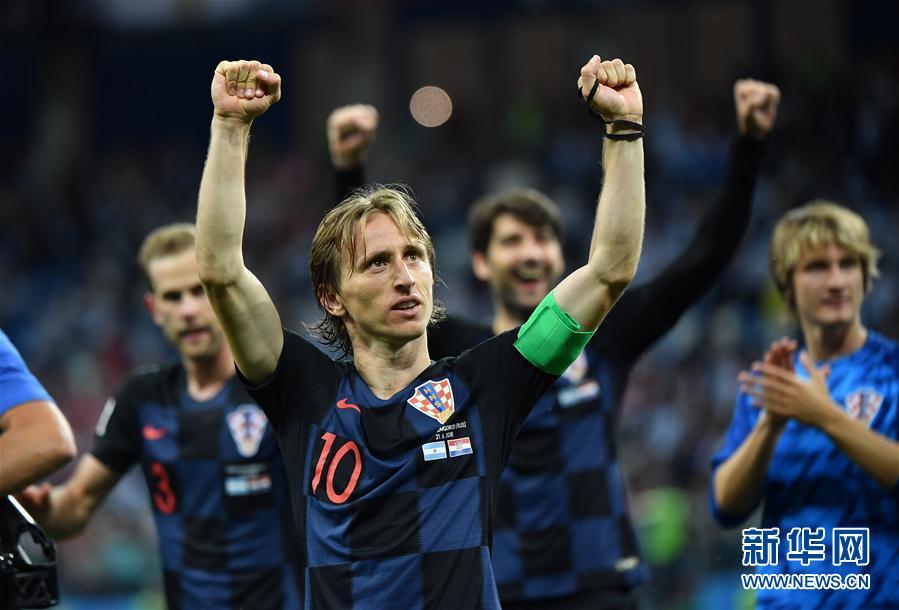 (世界杯)(2)足球——D組:克羅地亞隊擊敗阿根廷隊