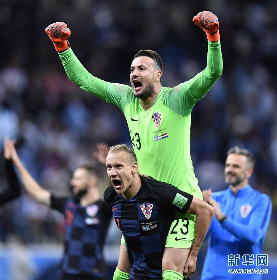 (世界杯)(8)足球——D組:克羅地亞隊擊敗阿根廷隊