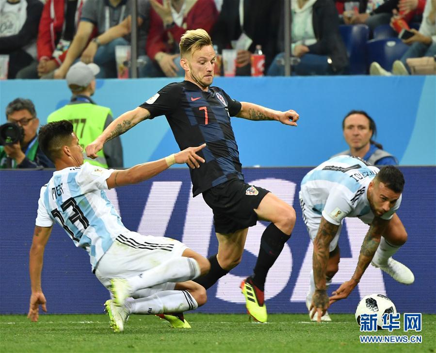 (世界杯)(36)足球——D組:克羅地亞隊擊敗阿根廷隊