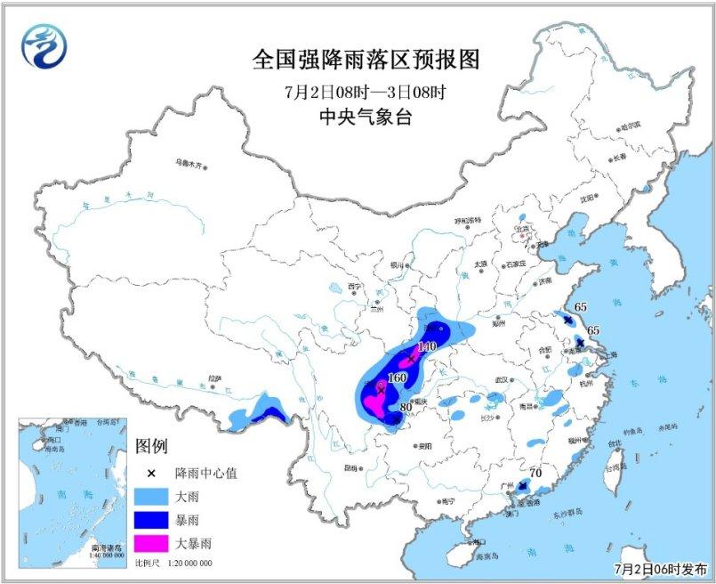 西北地区东部四川盆地将有一次较强降水过程