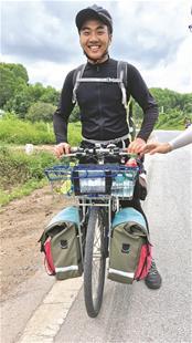 大学生23天从武汉骑行至越南 称为磨炼和改变自己