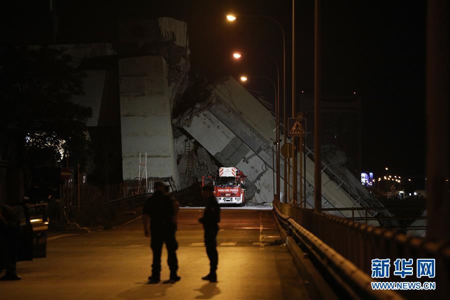 (國際)(3)意大利發生公路橋垮塌事故 至少20人死亡