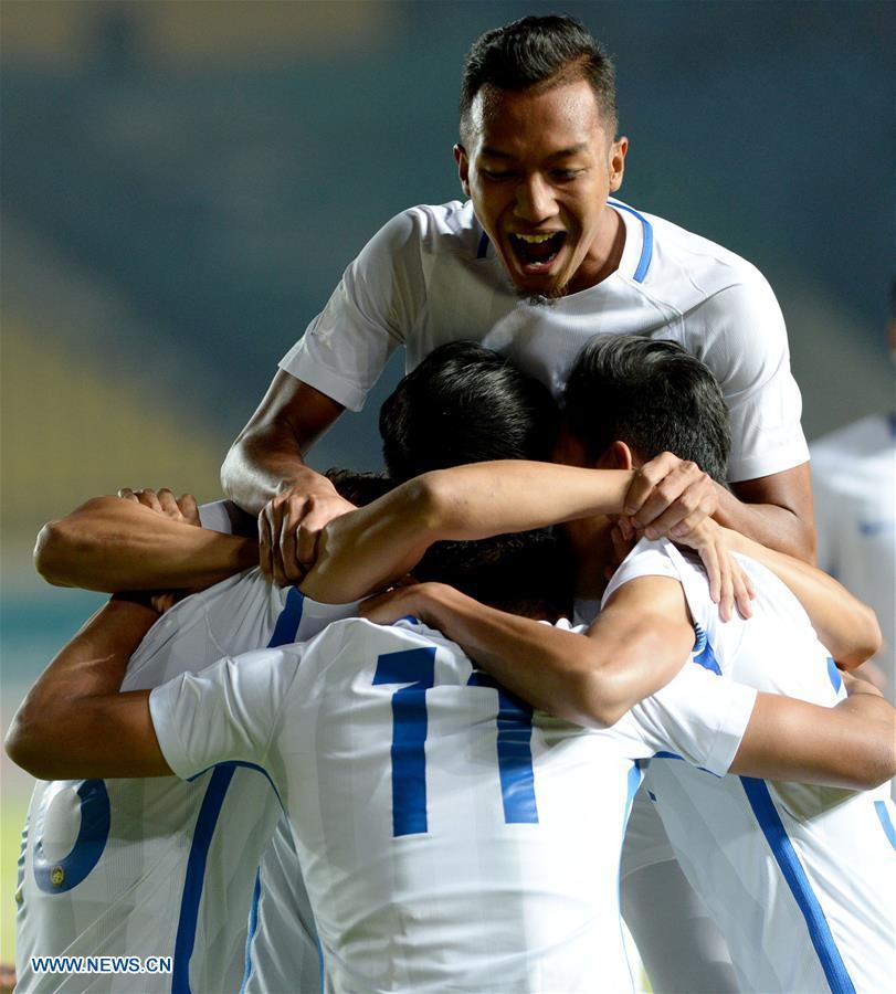 (SP)INDONESIA-BANDUNG-ASIAN GAMES 2018-MEN'S FOOTBALL MATCH-MALAYSIA VS SOUTH KOREA