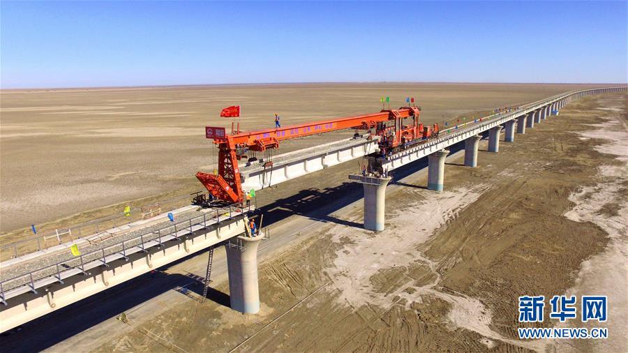 (图文互动)(1)格库铁路最长铁路桥合龙