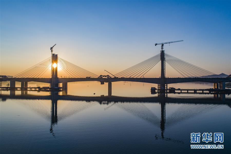 #(经济)(3)蒙华铁路汉江特大桥完成挂索