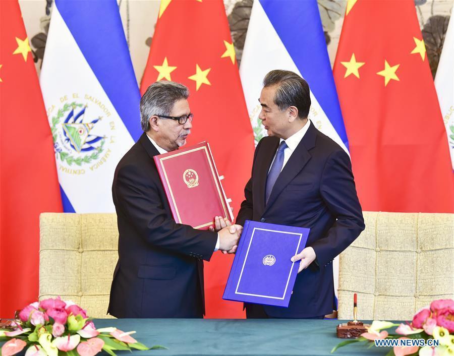 CHINA-BEIJING-REPUBLIC OF EL SALVADOR-DIPLOMATIC RELATIONS (CN)