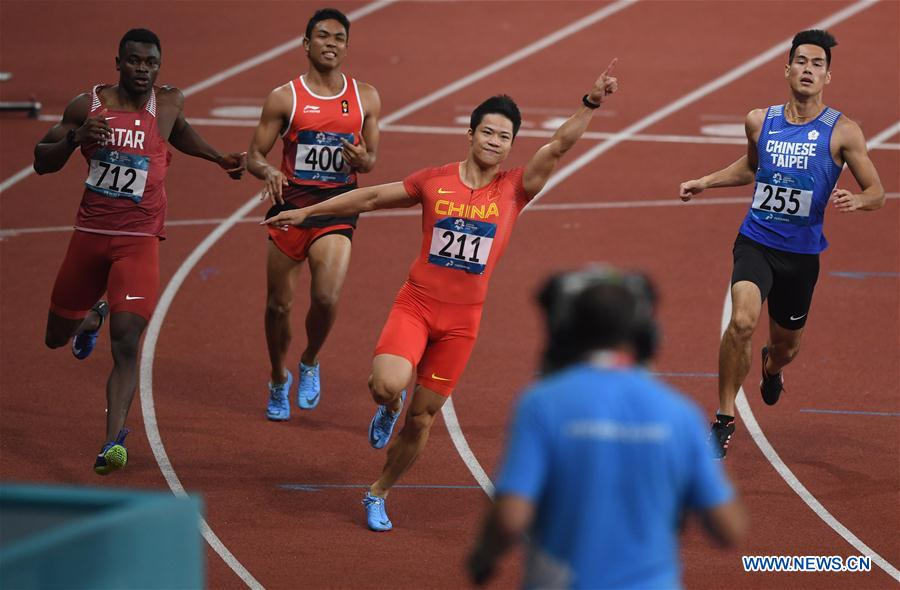 (SP)INDONESIA-JAKARTA-ASIAN GAMES-ATHLETICS-MEN'S 100M