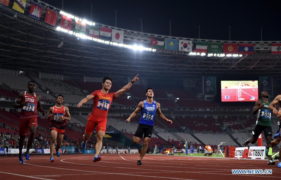 (SP)INDONESIA-JAKARTA-ASIAN GAMES-ATHLETICS-MEN'S 100M