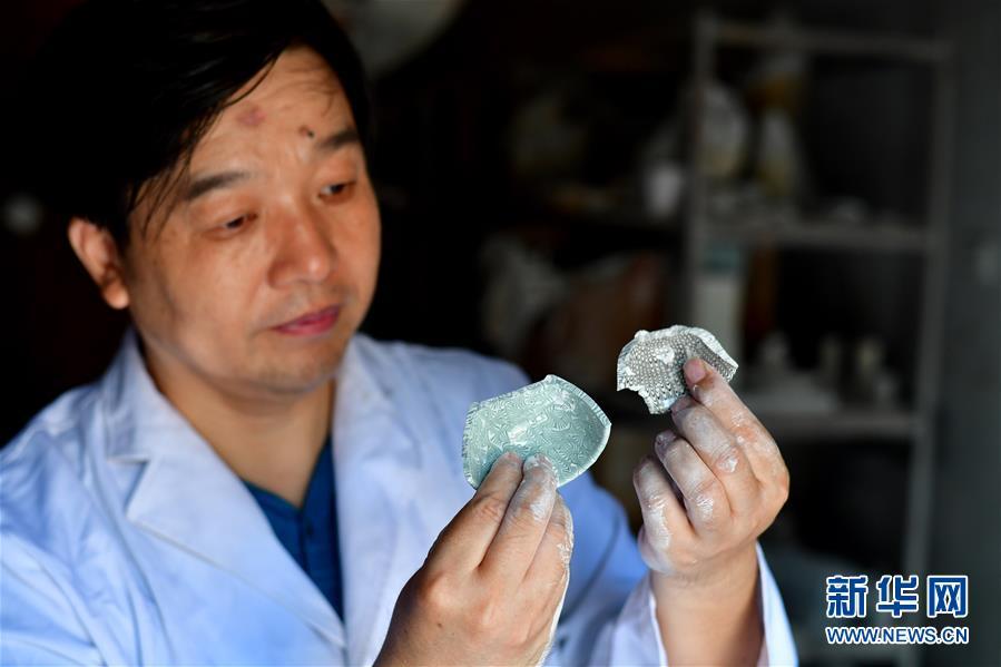 """(文化)(9)絞胎瓷:""""編織""""出來的瓷器"""
