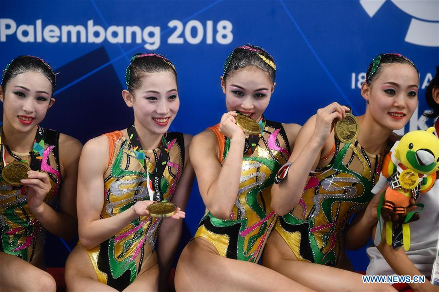 (SP)INDONESIA-JAKARTA-ASIAN GAMES-ARTISTIC SWIMMING