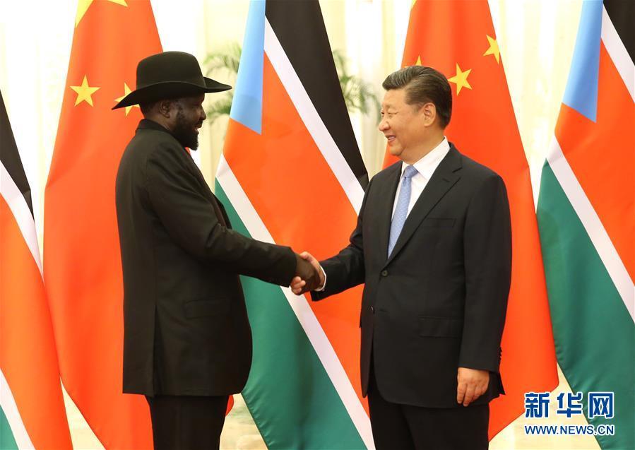 (中非合作论坛)习近平会见南苏丹总统基尔