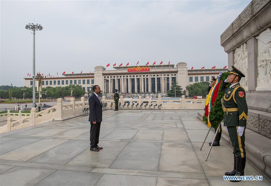 CHINA-BEIJING-ETHIOPIAN PM-MONUMENT-TRIBUTE (CN)