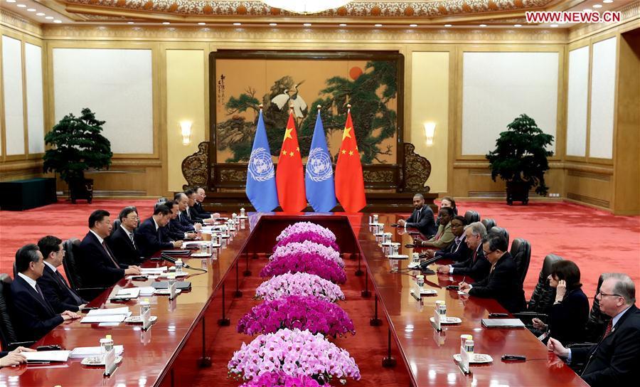CHINA-BEIJING-XI JINPING-UN SECRETARY-GENERAL-MEETING (CN)