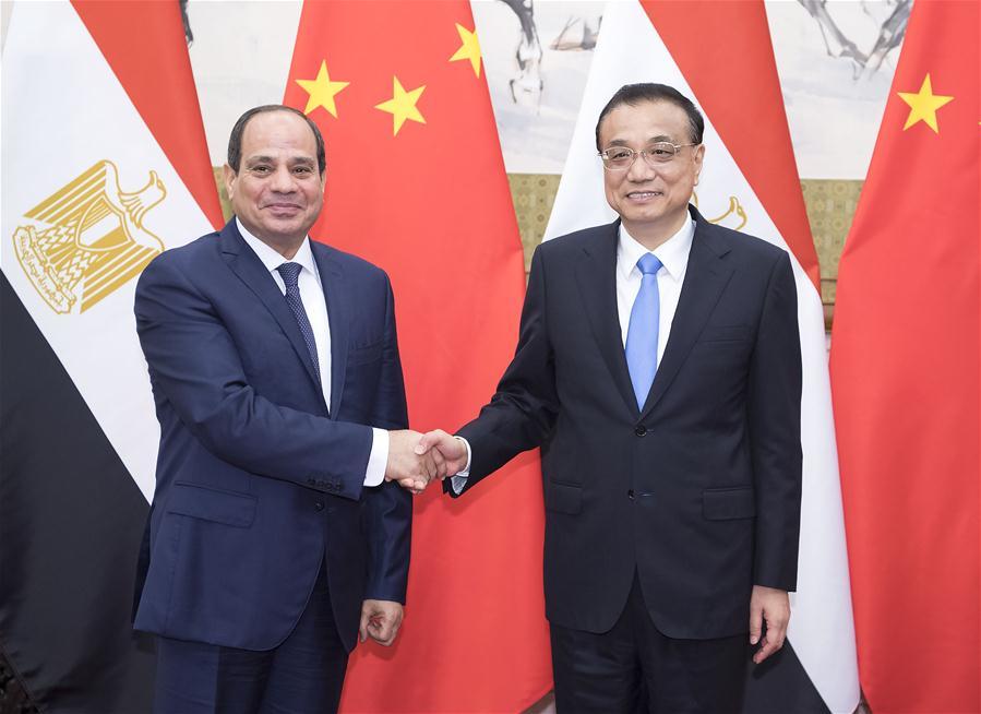 CHINA-BEIJING-LI KEQIANG-EGYPTIAN PRESIDENT-MEETING (CN)