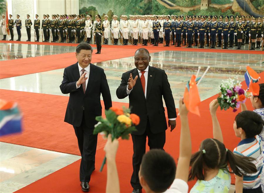 CHINA-BEIJING-XI JINPING-SOUTH AFRICAN PRESIDENT-TALKS (CN)