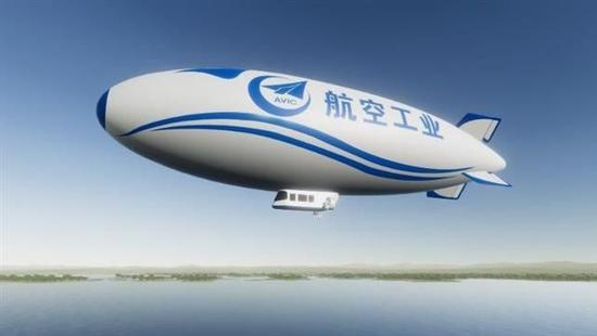 Designing picture of the airship. [Photo:aopa.org.cn]