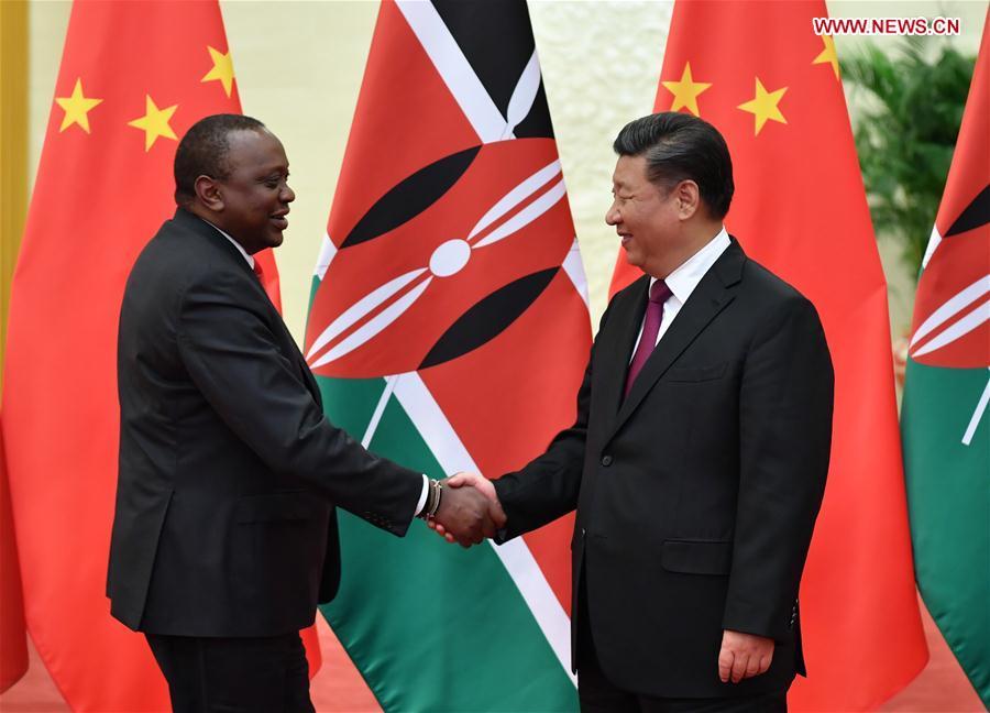 CHINA-BEIJING-XI JINPING-KENYAN PRESIDENT-MEETING (CN)
