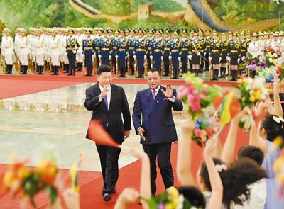 习近平同刚果共和国总统萨苏举行会谈