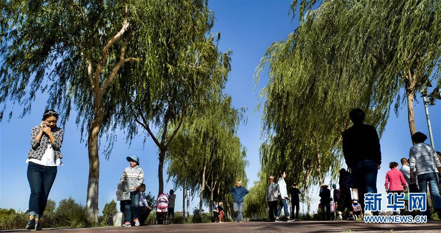 (美丽中国)(9)祁连山下黑河湿地 碧水绿妆如诗似画