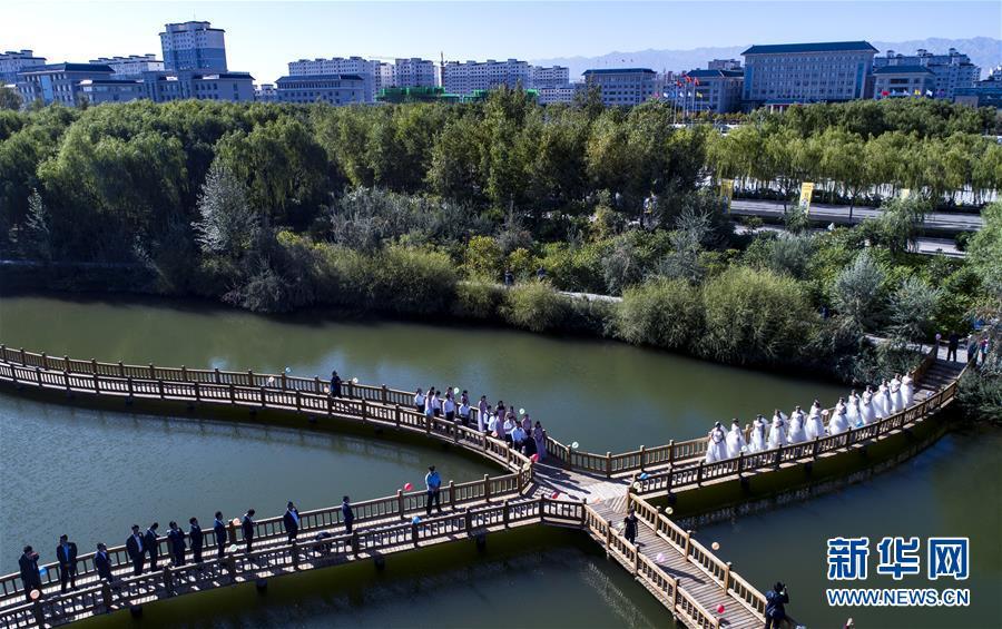 (美丽中国)(11)祁连山下黑河湿地 碧水绿妆如诗似画