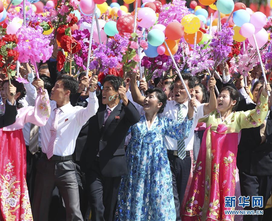9月9日,朝鮮在平壤舉行盛大閱兵式和群眾花車游行,熱烈慶祝建國70周年。新華社記者姚大偉 攝