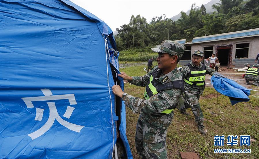 (社会)(1)云南墨江地震救援继续进行
