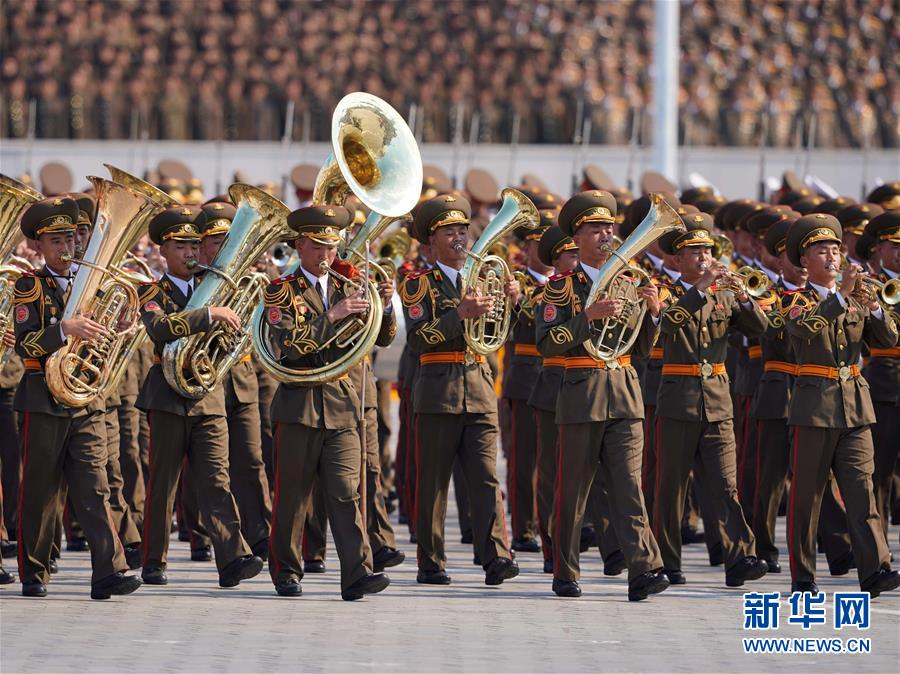9月9日,朝鮮在平壤舉行盛大閱兵式和群眾花車游行,熱烈慶祝建國70周年。新華社記者邢廣利 攝