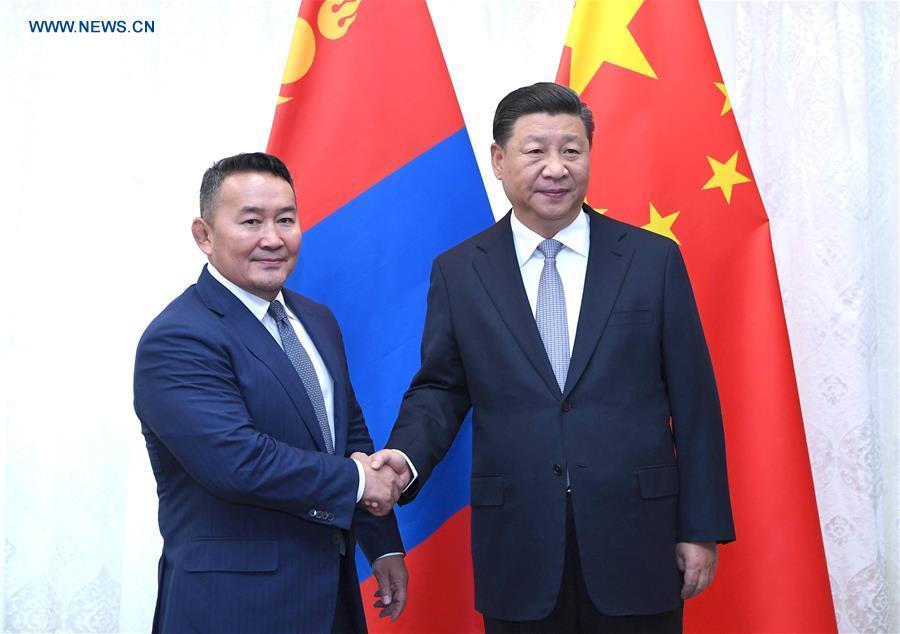 RUSSIA-VLADIVOSTOK-XI JINPING-MONGOLIA-MEETING