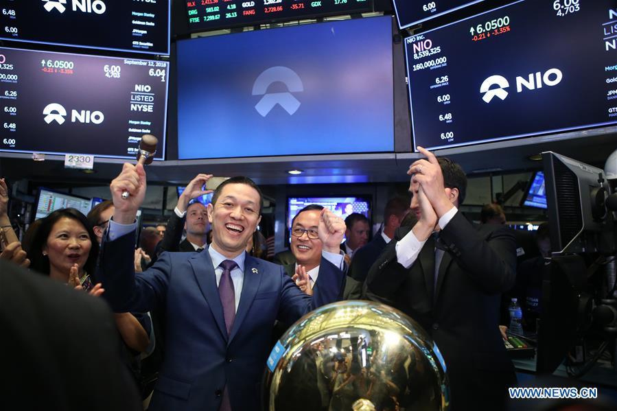 U.S.-NEW YORK-NYSE-NIO-IPO