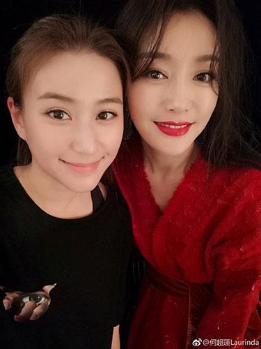 """何超莲偶遇""""皇后""""秦岚秒变迷妹"""