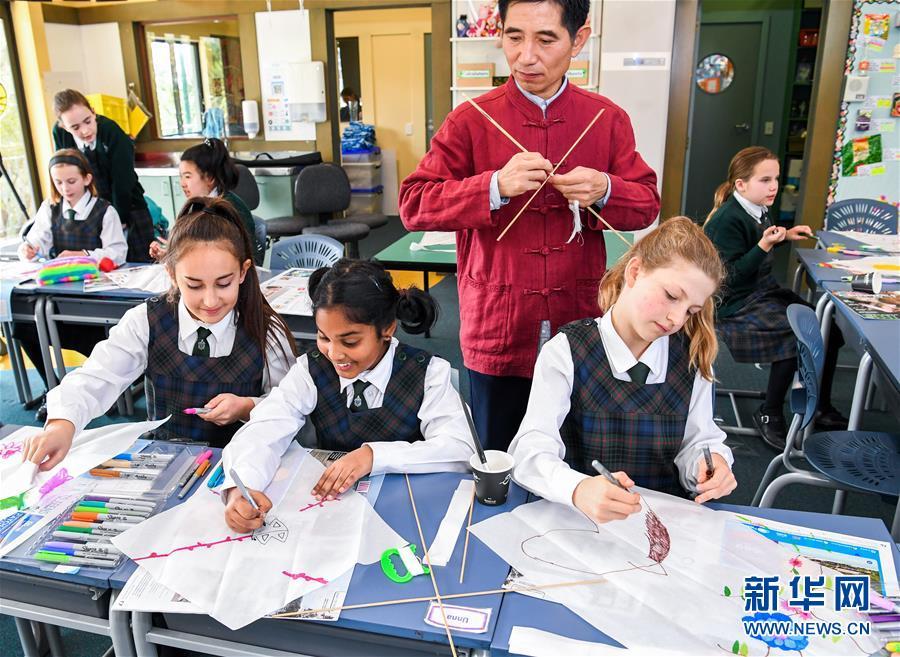 """(国际)(4)中国纸鸢""""飞到""""新西兰"""