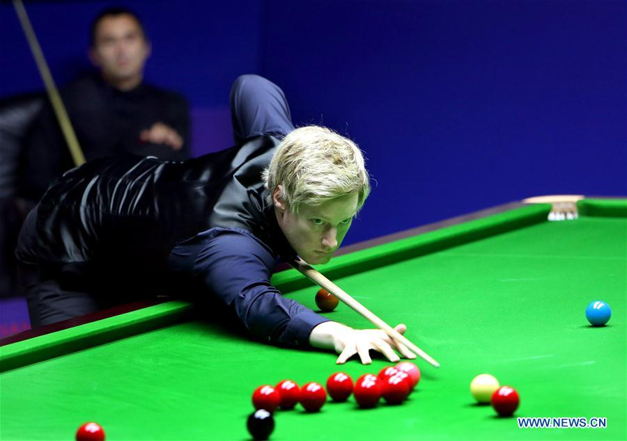 Neil Robertson competes against Ronnie O'Sullivan at 2018 World Snooker Shanghai Masters