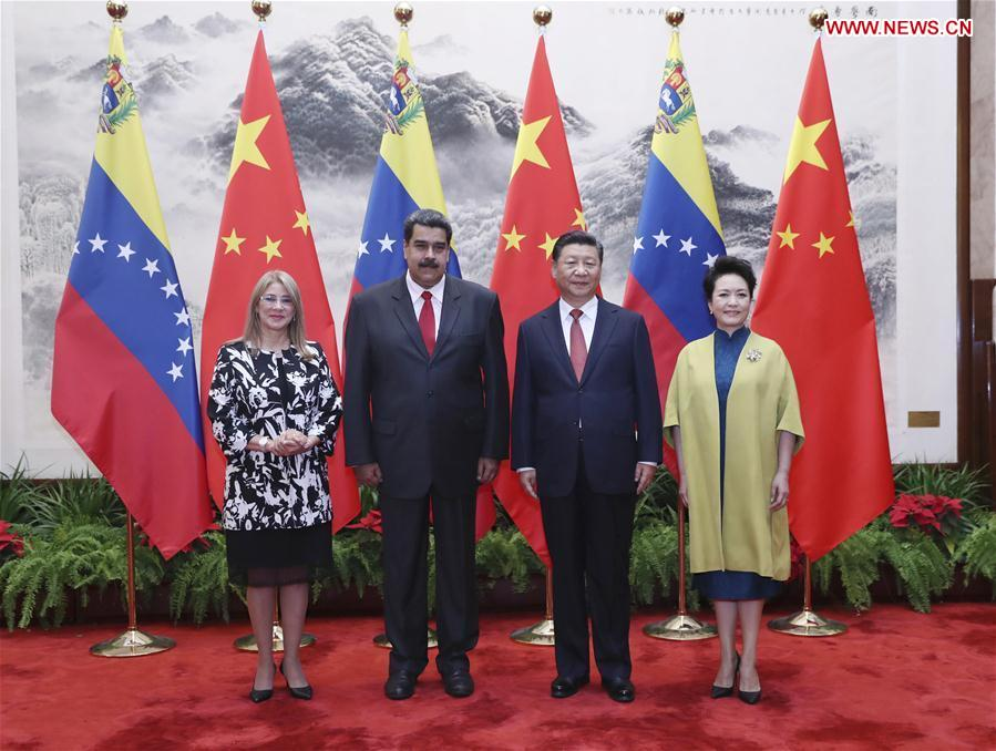 CHINA-BEIJING-XI JINPING-VENEZUELA-MADURO-TALKS (CN)