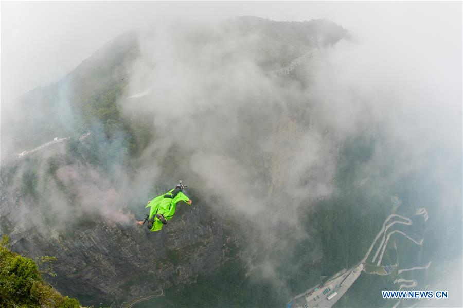 In pics: World Wingsuit League China Grand Prix