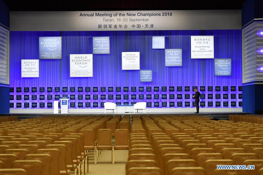 CHINA-TIANJIN-SUMMER DAVOS FORUM-PREPARATION (CN)