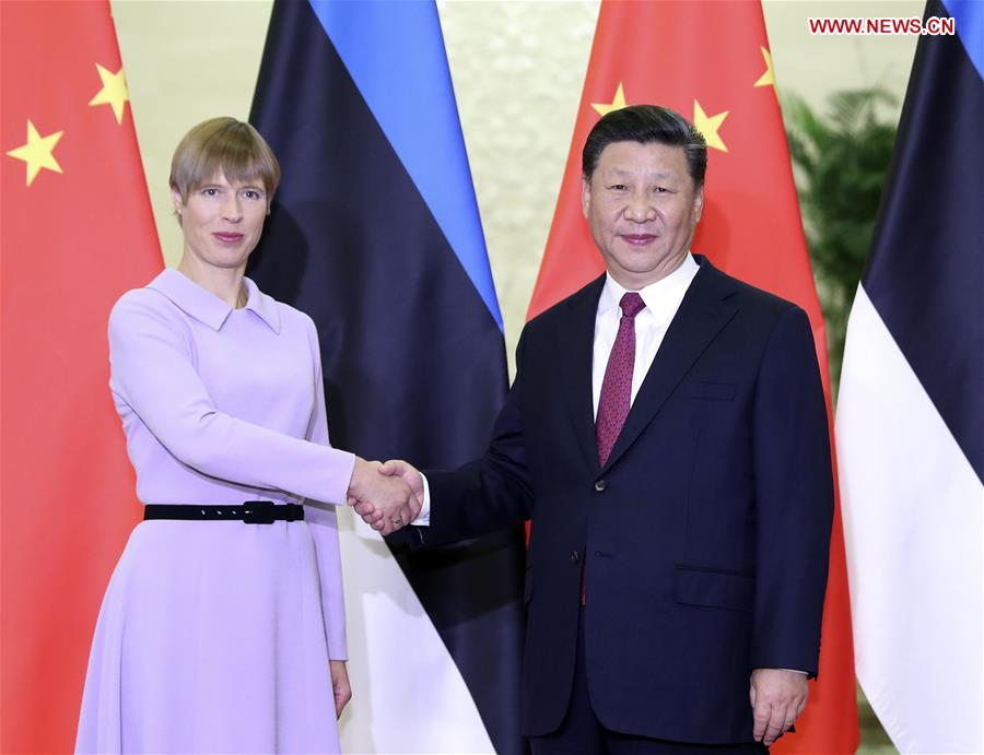 President Xi meets Estonian counterpart