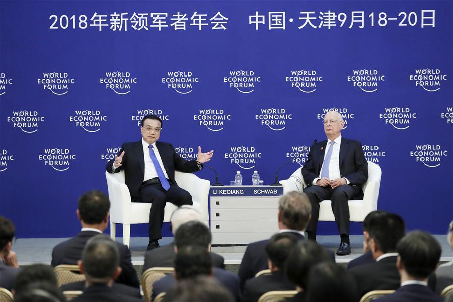 CHINA-TIANJIN-LI KEQIANG-WEF-SUMMER DAVOS-DIALOGUE (CN)