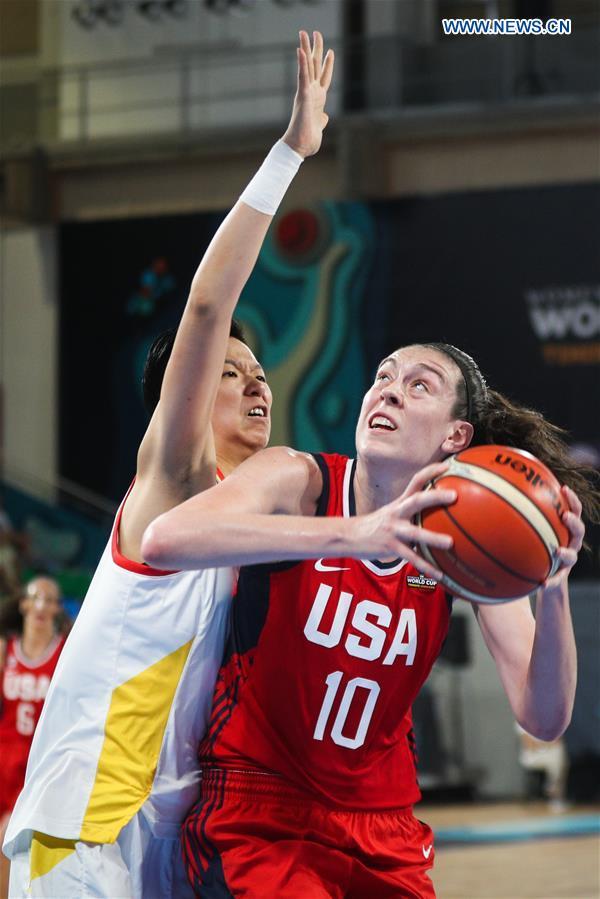 China loses to U.S. at 2018 FIBA Women's Basketball World Cup