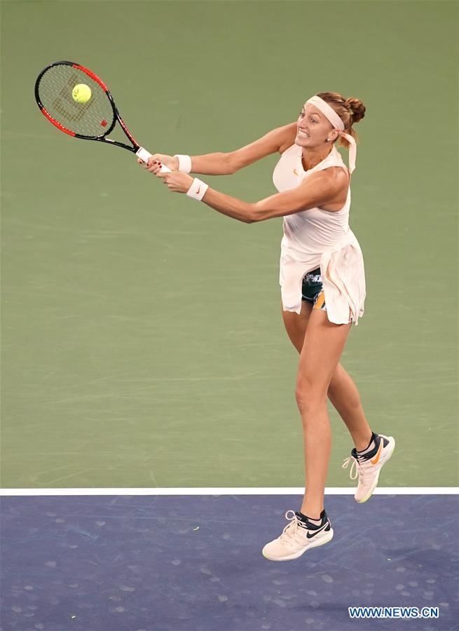 Petra Kvitova beats Aleksandra Krunic 2-0 at 2018 WTA Wuhan Open tennis tournament