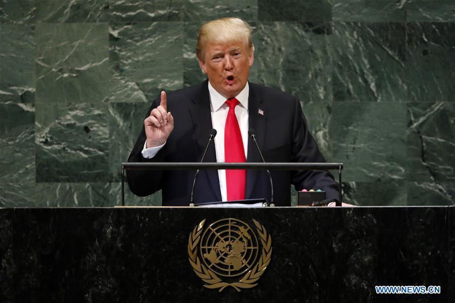 News Analysis: Trump's UN speech indicative of zero-sum world view, U.S. experts say