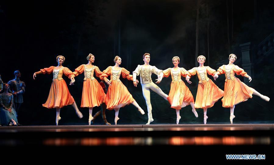 "Ballet ""Swan Lake"" staged at Tangxianzu Theater in Fuzhou, China's Jiangxi"