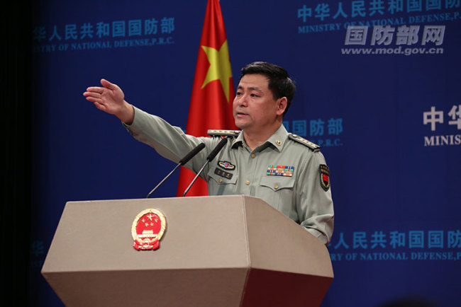 Ren Guoqiang, spokesperson for China's Ministry of National Defense [Photo: mod.gov.cn]