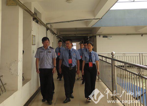 南宁市检察院巡视组到上林县看守所巡视